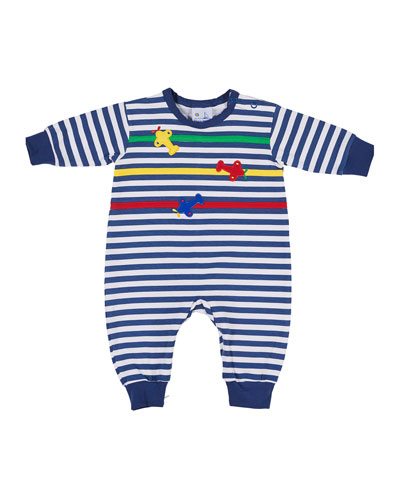Striped Airplane Coverall, Size 3-18 Months