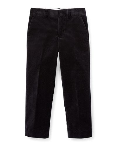 Newport Velvet Straight-Leg Pants, Size 5-7