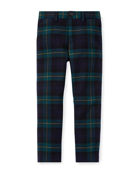RALPH LAUREN CHILDRENSWEAR Newport Tartan Plaid Wool Pants, Size 2-4 in Black