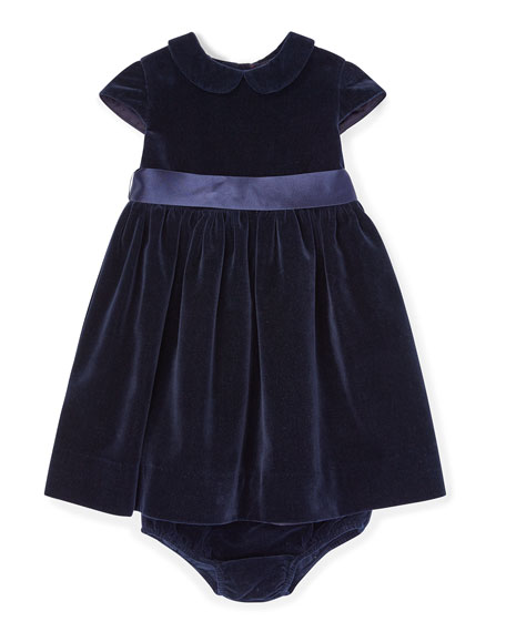 d06e84d23 Ralph Lauren Childrenswear Velvet Short-Sleeve Dress w/ Matching