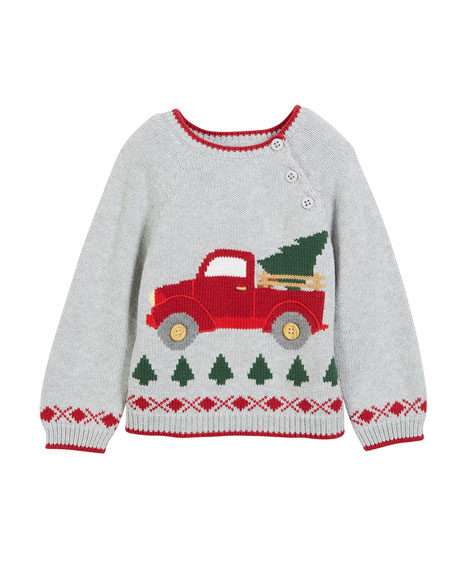 zubels kids antique truck knit christmas sweater size 12m 7