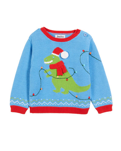 Kids' T-Rex Christmas Sweater, Size 12M-5