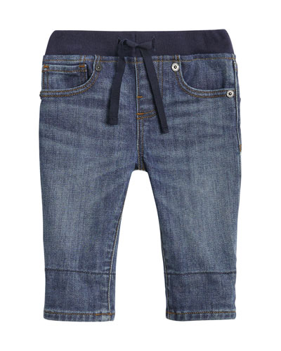 Pull-On Drawstring Jeans  Size 6M-2Y
