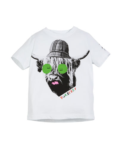 Highland Cow Graphic Tee, Size 3-14