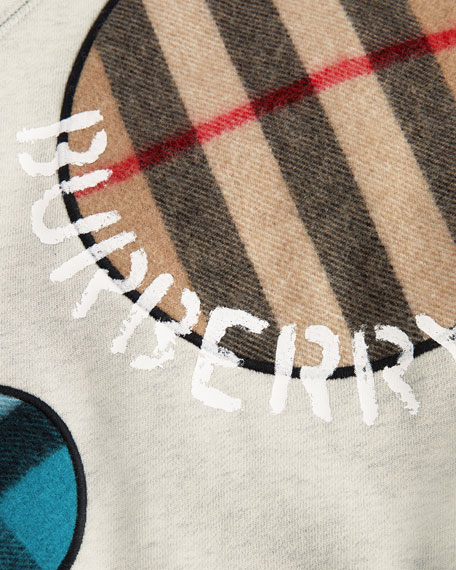 5e8c9518c4ee Burberry Check Scarf Dots Sweater