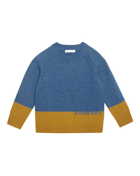 Alister Colorblock Cashmere Sweater, Size 3-14