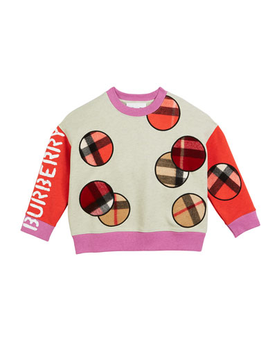 Colorblock Sweatshirt w/ Scarf Patches  Size 3-14