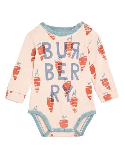 Beval Carrot-Print Bodysuit  Size 3-18 Months