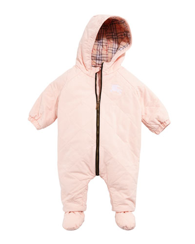 Skylar Diamond Quilted Hooded Coverall Snowsuit  Size 3-18 Months