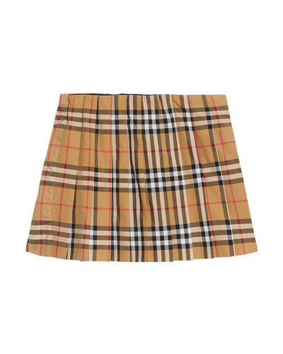 Pearl Check Pleated Skirt  Size 3-14