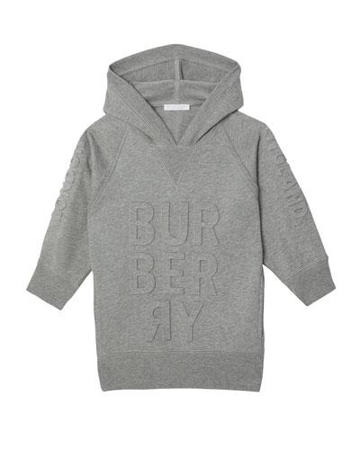 Aurora Raised Logo Sweatshirt Dress  Size 3-14
