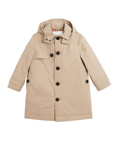 Bradley Hooded Trench Coat  Size 3-14