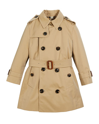Mayfair Collared Trench Coat  Size 3-14
