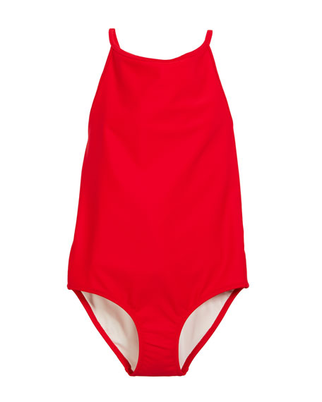 6caf1dea99 Burberry Sandine Check-Trim One-Piece Swimsuit, Size 3-14