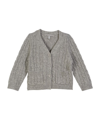 Cable-Knit Cashmere Cardigan  Size 2-6