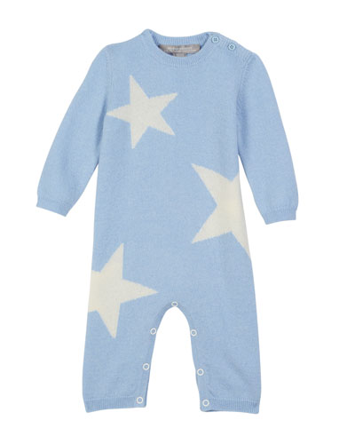 Stars Knit Coverall, Size 3-12 Months