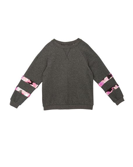 Hudson Ariel Sequin-Trim Sweatshirt, Size S-XL