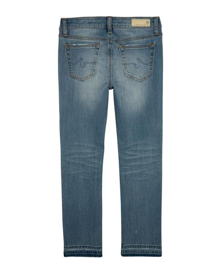Girls' Teegan Split-Hem Cropped Skinny Jeans, Size 7-14