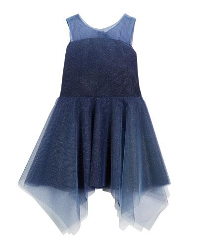 Ombre Shimmer Tulle Sleeveless Dress  Size 7-16