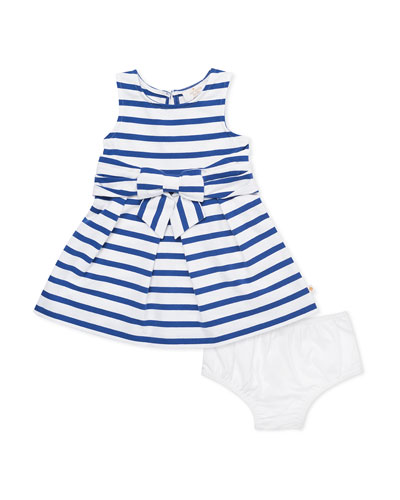 jillian striped sleeveless dress w/ bloomers  size 12-24 months