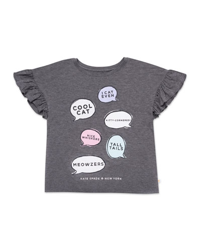 speech bubbles graphic tee  size 7-14
