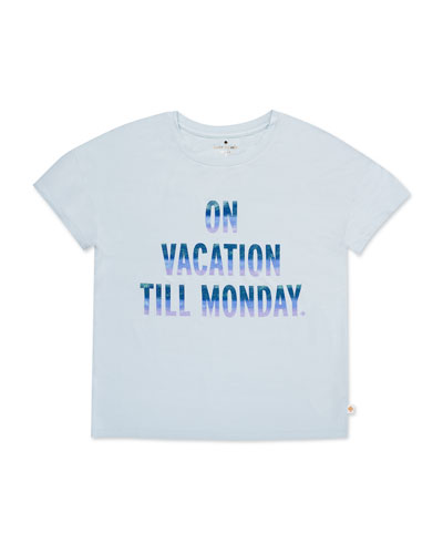 glittered on vacation jersey tee, size 7-14