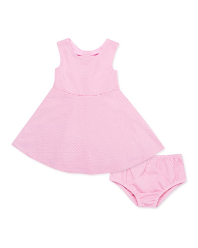 vivian textured knit dress w/ matching bloomers, size 12-24 months