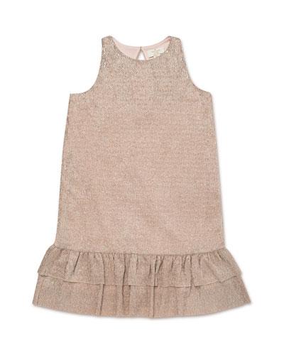 metallic knit sleeveless dress, size 7-14