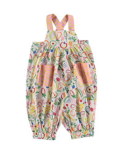 Assorted Fruit-Print Overalls  Size 6-36 Months