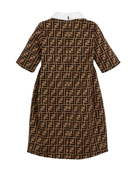 FF Jacquard Peter Pan-Collar Dress, Size 6-8