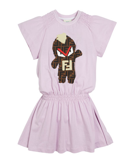 FF Monster Shirred Dress, Size 4-14