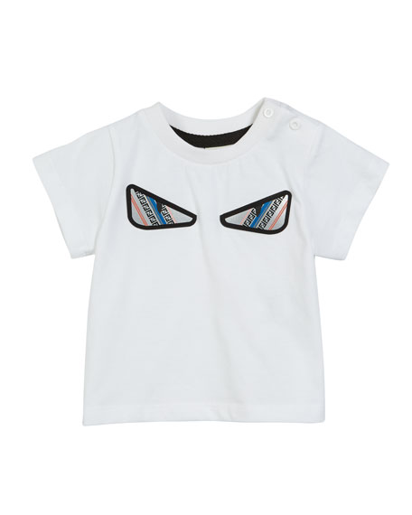 Fendi FF Monster Eyes Tee, Size 6-24 Months