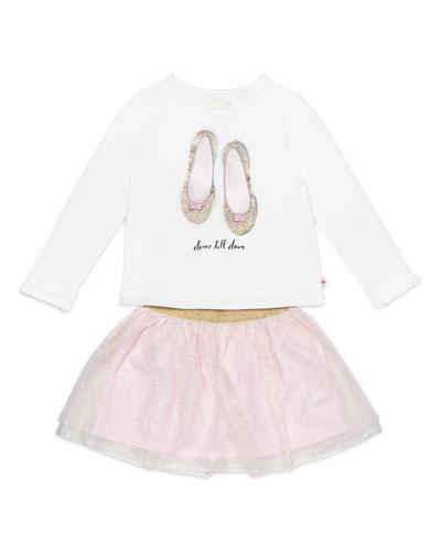dance till dawn top w/ glitter skirt, size 12-24 months