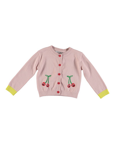 Smiling Cherries Cardigan  Size 6-36 Months