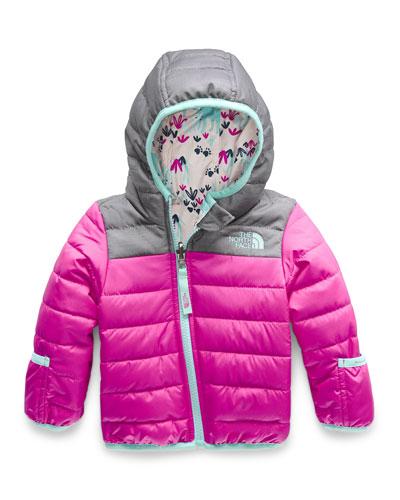 Perrito Reversible Hooded Taffeta Jacket, Size 6-24 Months