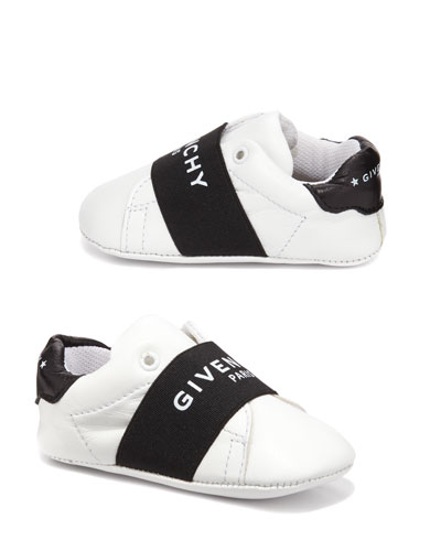 Two-Tone Logo Band Crib Shoes  Baby/Toddler