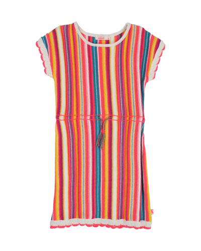 Multicolored Stripe Knit Dress  Size 4-12