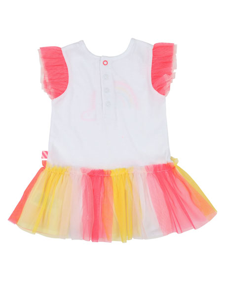 Jersey & Tulle Rainbow Dress, Size 12M-3