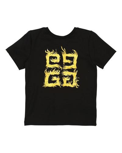 4G Logo Short-Sleeve Tee  Size 4-10