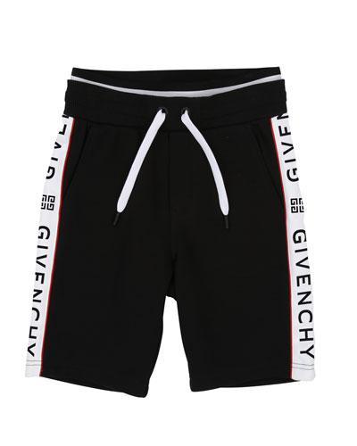 Drawstring Sweat Shorts w/ Logo Taping  Size 12-14