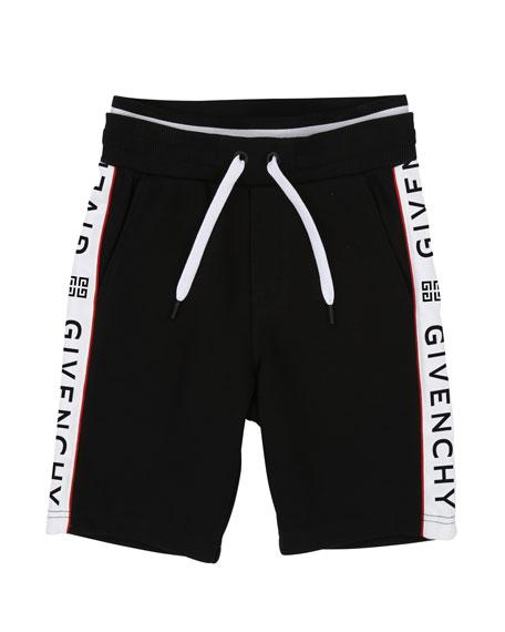 Givenchy Drawstring Sweat Shorts w/ Logo Taping, Size