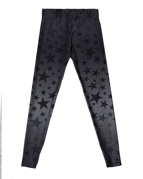 408921ac79376 Terez Steel Star-Print Leggings, Size 7-16