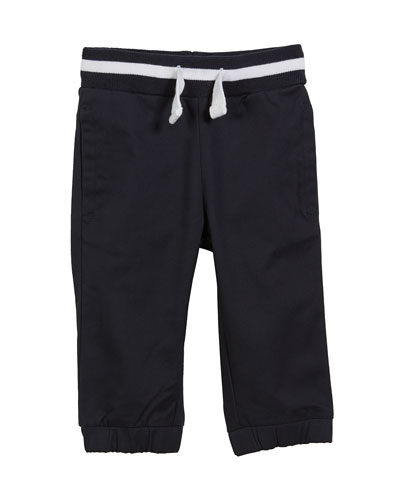 Cotton-Stretch Jogger Pants, Size 3-24 Months
