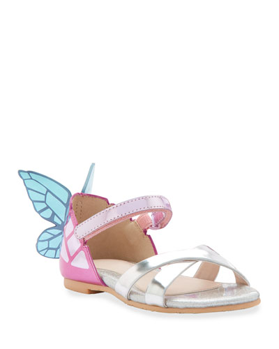 Chiara Mirrored Leather Butterfly Sandals  Toddler