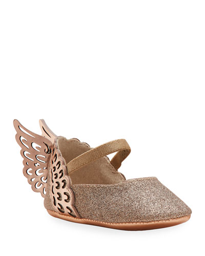 Evangeline Glittered Butterfly-Wing Flats  Baby