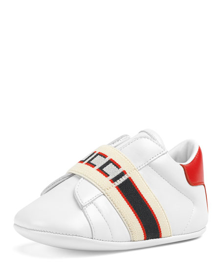 New Ace Gucci Band Leather Sneakers, Baby/Toddler