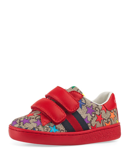 New Ace GG Supreme Rainbow Star-Print Sneakers, Toddler