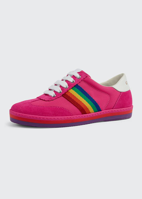 b480508c03a Gucci Suede Rainbow Sides Sneakers