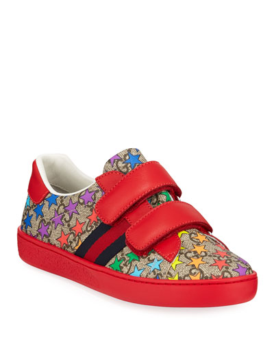 New Ace GG Supreme Rainbow Star-Print Sneakers Toddler Kids Quick Look.  Gucci 00fa302a75d