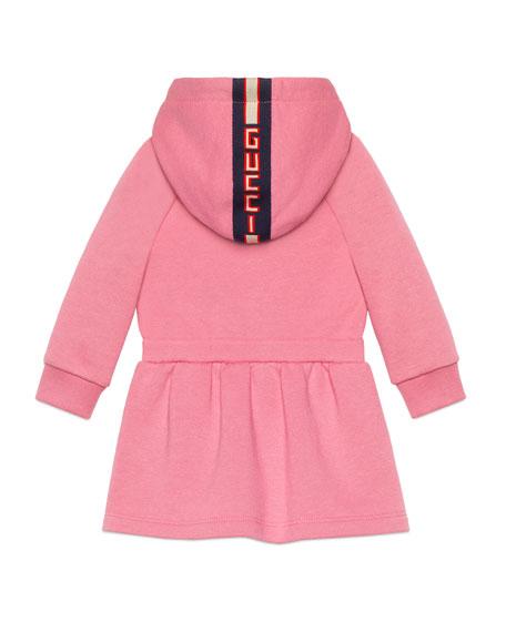 Long-Sleeve Sweatshirt Dress w/ Logo Bow Applique, Size 6-36 Months